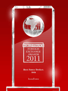 World Finance Awards 2011 – Il Miglior Broker in Asia